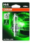 OSRAM Ultra Life 1db 64193ULT-01B H4 60/55W 3 X ÉLETTARTAM