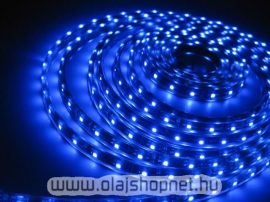 Flexibilis SMD LED szalag, vizálló, 30LED/m, kék fényű, méterben