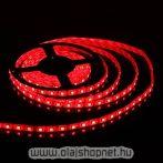 Flexibilis SMD LED szalag, vizálló, 60LED/m, piros fényű, méterben
